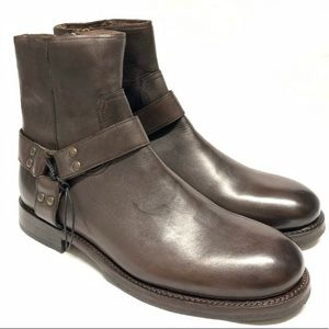 Frye Harness Brown Boots Size 11 NEW